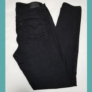 Levi's 721 Black Wash High Rise Skinny Jeans